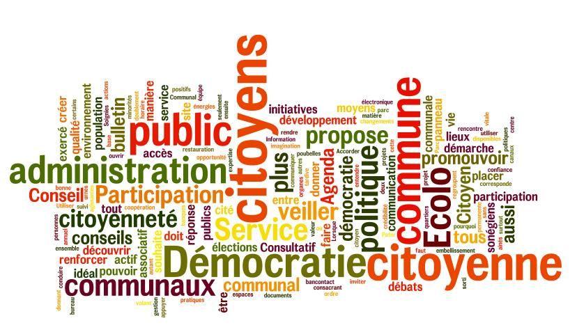 Mots descriptifs de la Participation des Citoyens